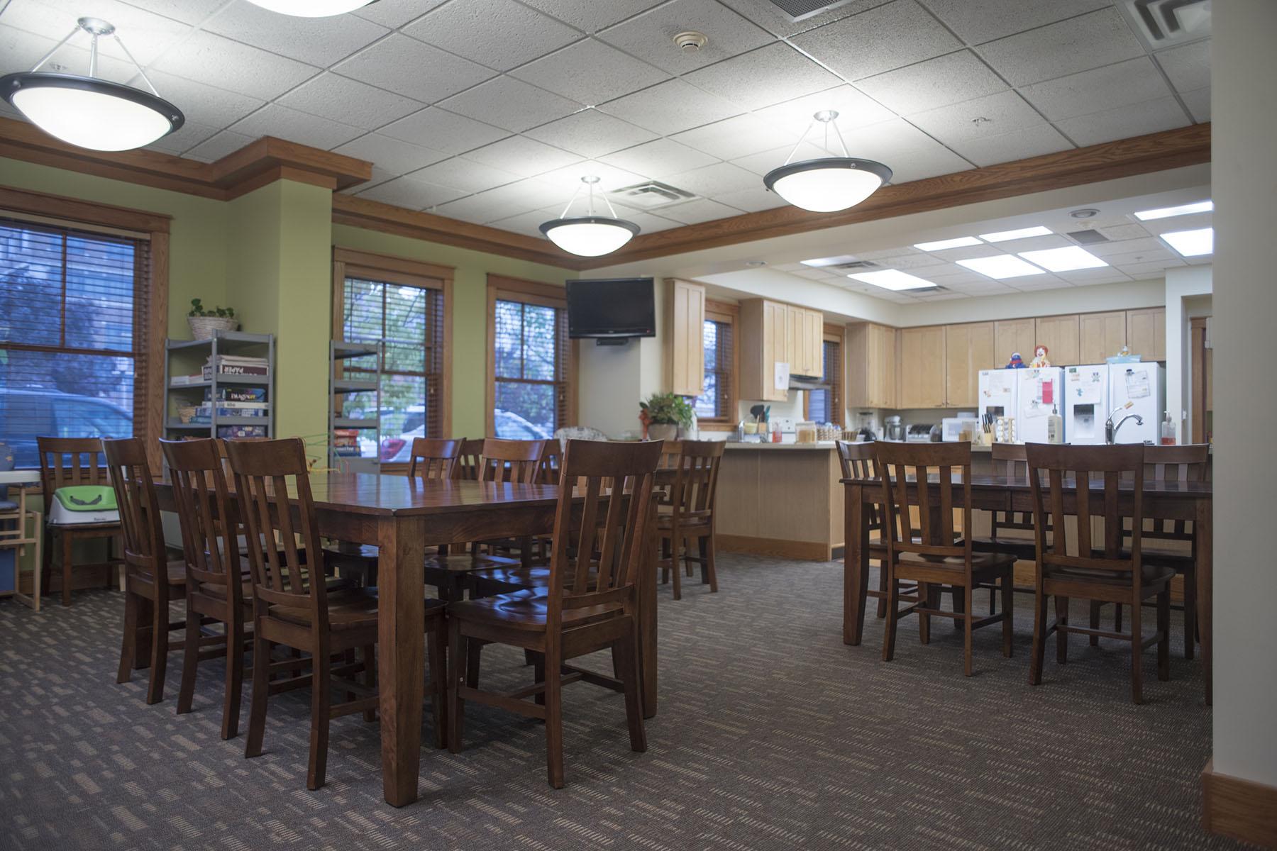 Dining area near kitchen