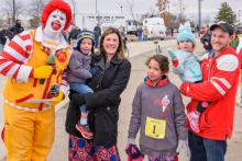 vannortwick family with ronald mcdonald